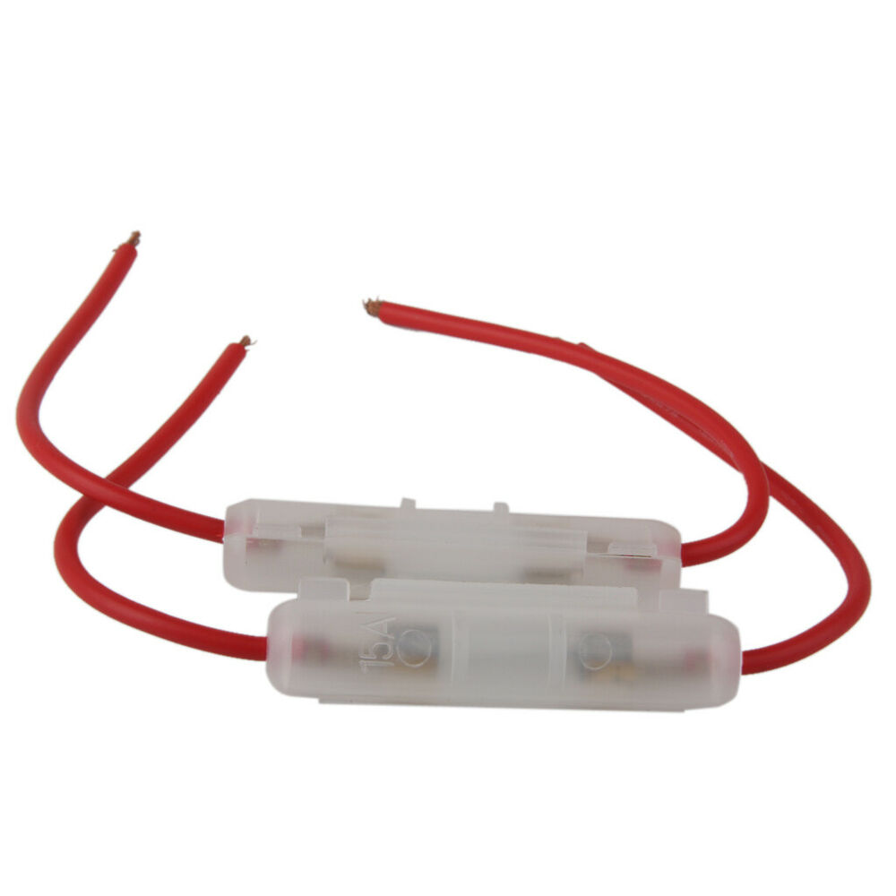 hight resolution of details about 2pcs 15a inline glass fuse holder box for car truck motorcycle motorbike