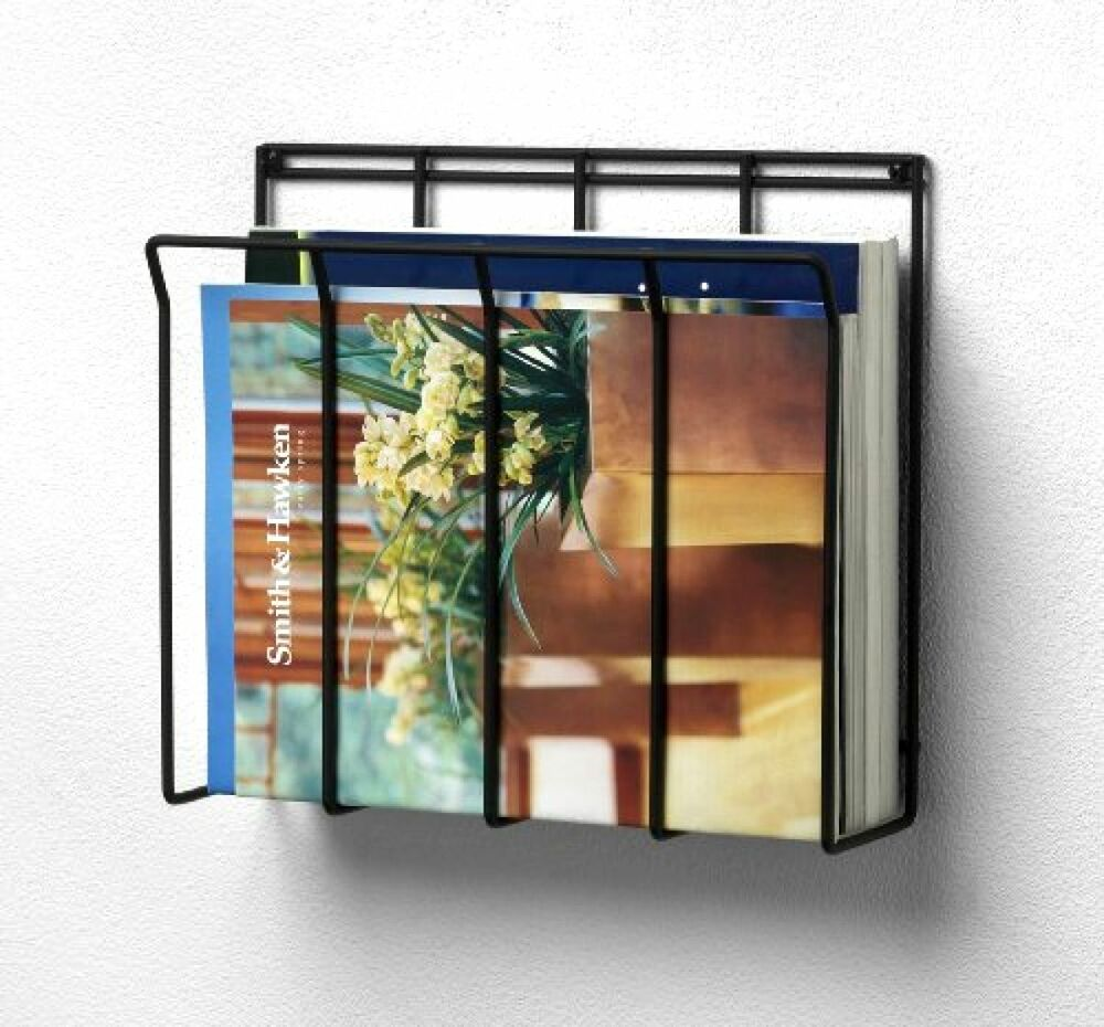 Wall Mount Bathroom Magazine Rack Holder Newspaper Book