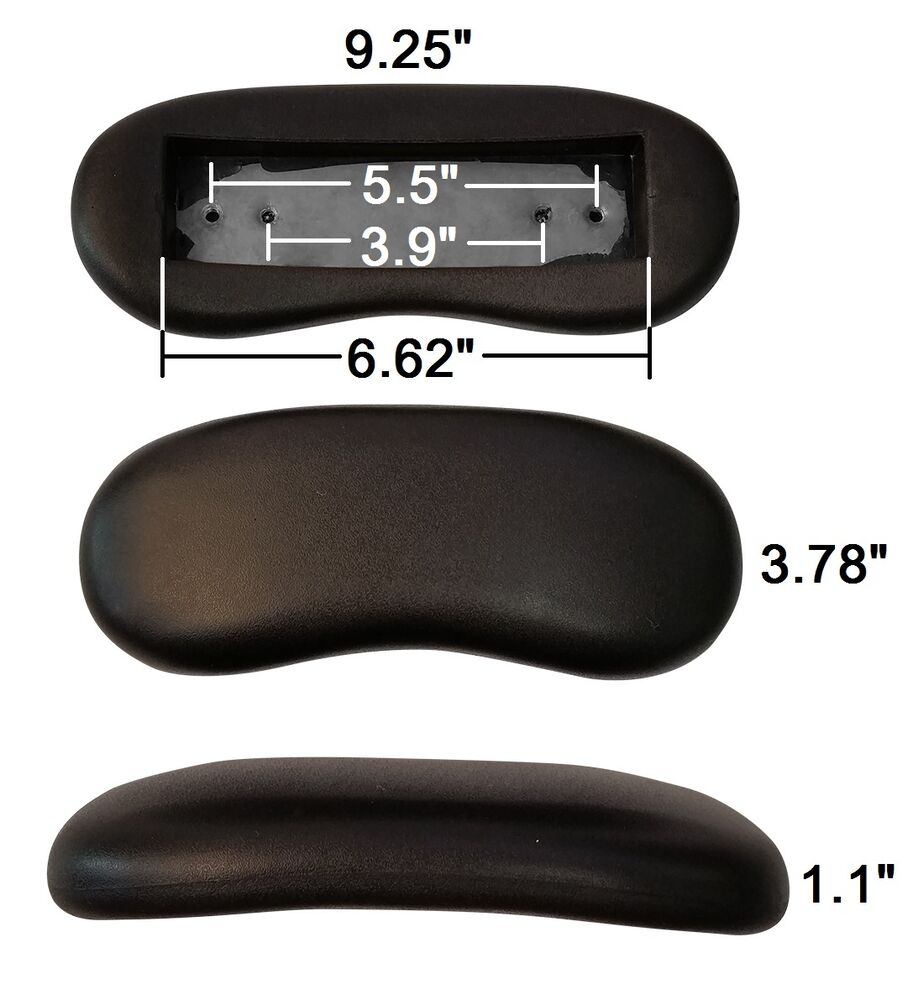 Replacement Office Chair Armrest Arm Pads Kidney Shaped