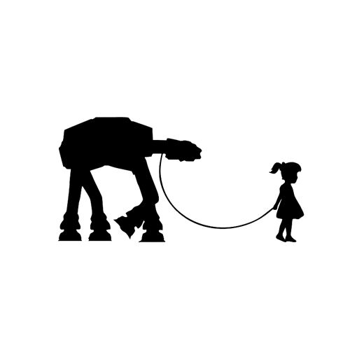 Star Wars Walker girl walking At At decal Sticker for