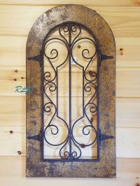 Rustic Antique Tuscan Old World Scrolling Wood Metal Wall ...