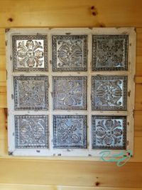 Rustic Distressed Vintage Metal Wood Wall Panel Plaque Art ...