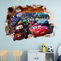 DISNEY CARS WALL STICKER 3D BOYS GIRLS BEDROOM VINYL WALL