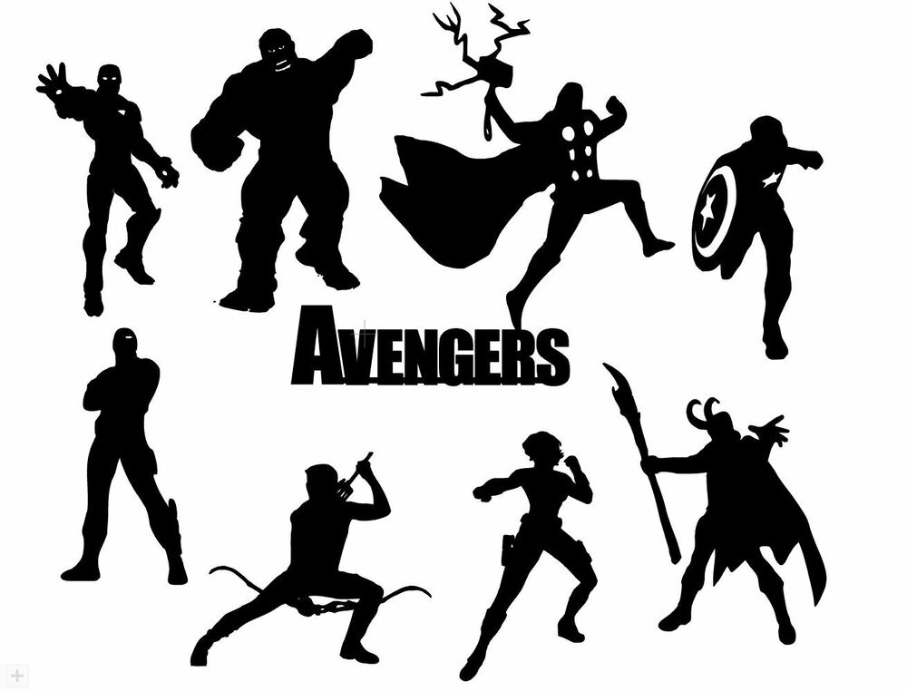 Die Cut Outs Silhouette Avengers 16 set topper Shapes