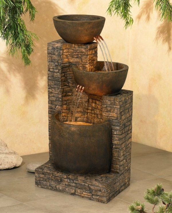 Water Fountain Outdoor-indoor Floor 2-basins Portable