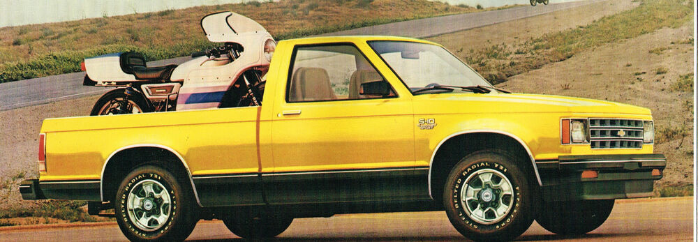 Big 1982 Chevy S-10 PICKUP TRUCK Brochure/Catalog; Pick Up
