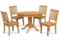 "36"" ROUND TABLE DINETTE KITCHEN DINING ROOM SET IN OAK ..."