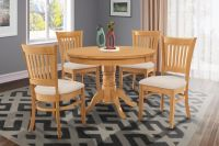 "36"" ROUND TABLE DINETTE KITCHEN DINING ROOM CHAIR SET IN ..."