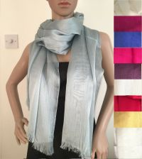 New Lightweight Shimmer Pashmina Shawl Stole Scarf Coverup ...