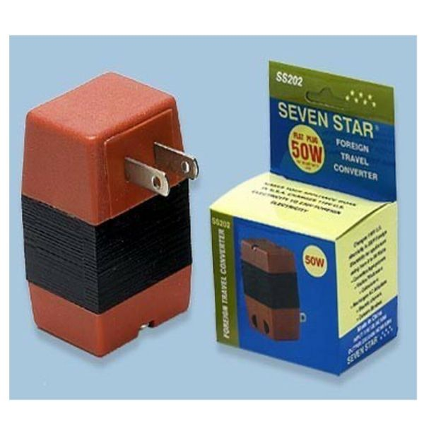 Watts Voltage Converter 110 220 Volt Step 50w Max Travel Adapter
