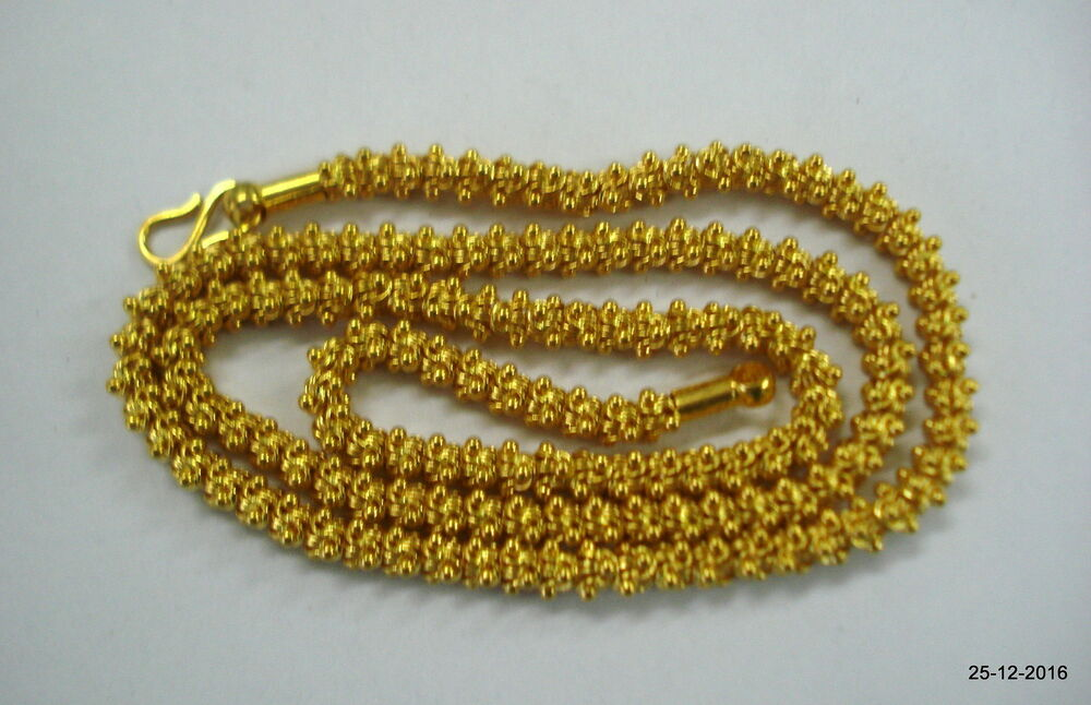 Traditional Design 22kt Gold Chain Necklace Handmade Gold