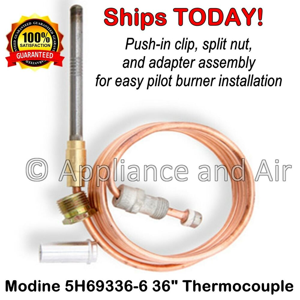 hight resolution of modine hot dawg heater 5h69336 6 36 thermocouple standing pilot heaters instr ebay