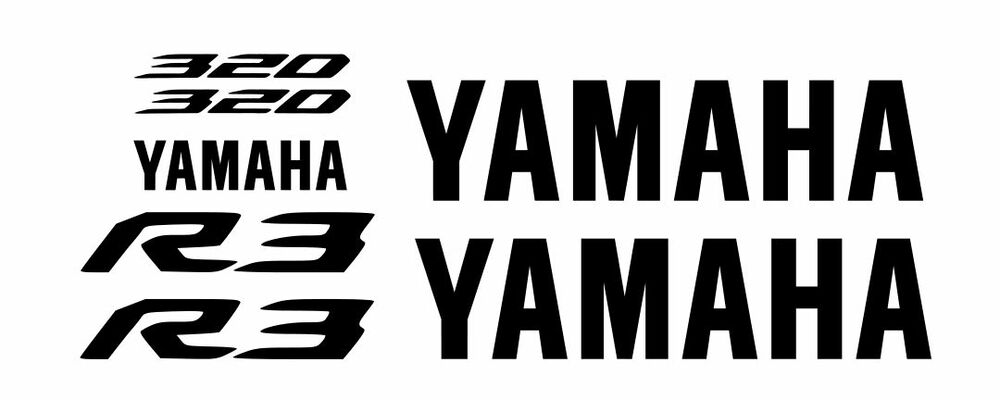 (7) Yamaha R3 BLACK Stickers Motorcycle YZF 320 Decal
