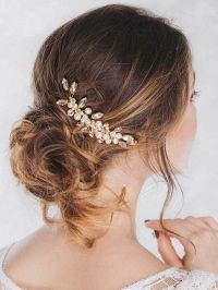 Venusvi Vintage Wedding Hair Combs with Bead and