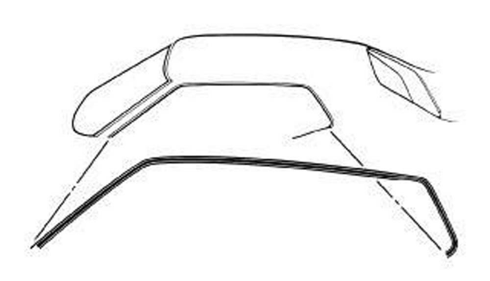 NEW! 1971-1973 Mustang Coupe & Fastback Roof Rail