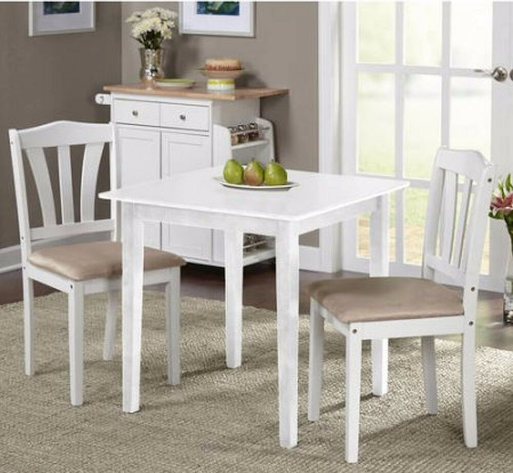 Small Kitchen Table Sets Nook Dining and Chairs 2 Bistro Indoor For Spaces Room  eBay