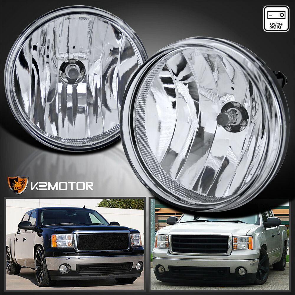 Bumper Clear Fog Lights Lamps With Switch Wiring Replacement Ebay