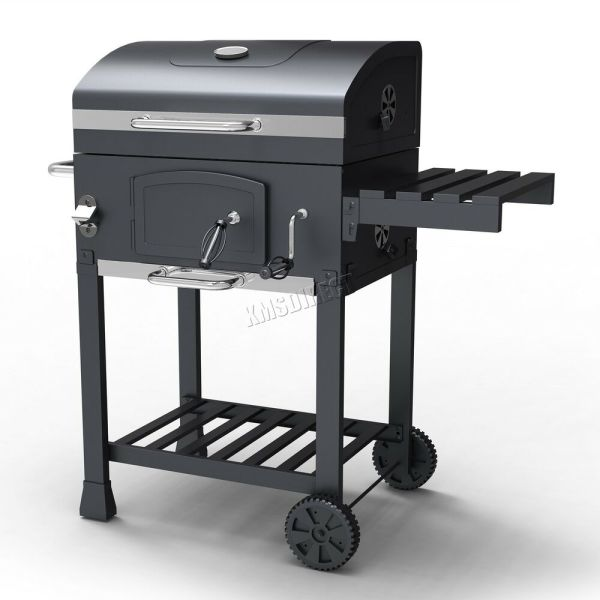 Foxhunter Charcoal Bbq Grill Barbecue Smoker Grate Garden Portable Outdoor Grey