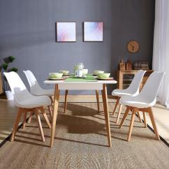 Retro Dining Room Table And Chairs Black Resin Nz Set Of 4 Chair Home Office Wooden Legs