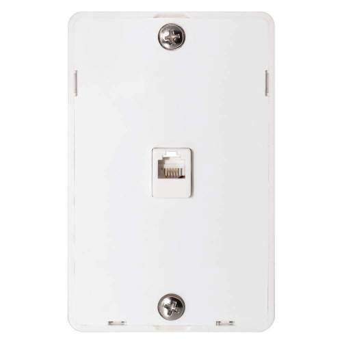 small resolution of details about phone jack wall plate modular white surface mount 4 wire flush telephone