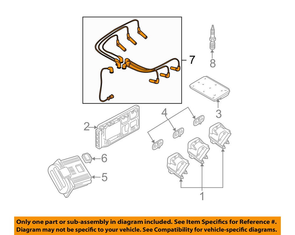 medium resolution of details about gm oem ignition spark plug wire or set see image 19171853