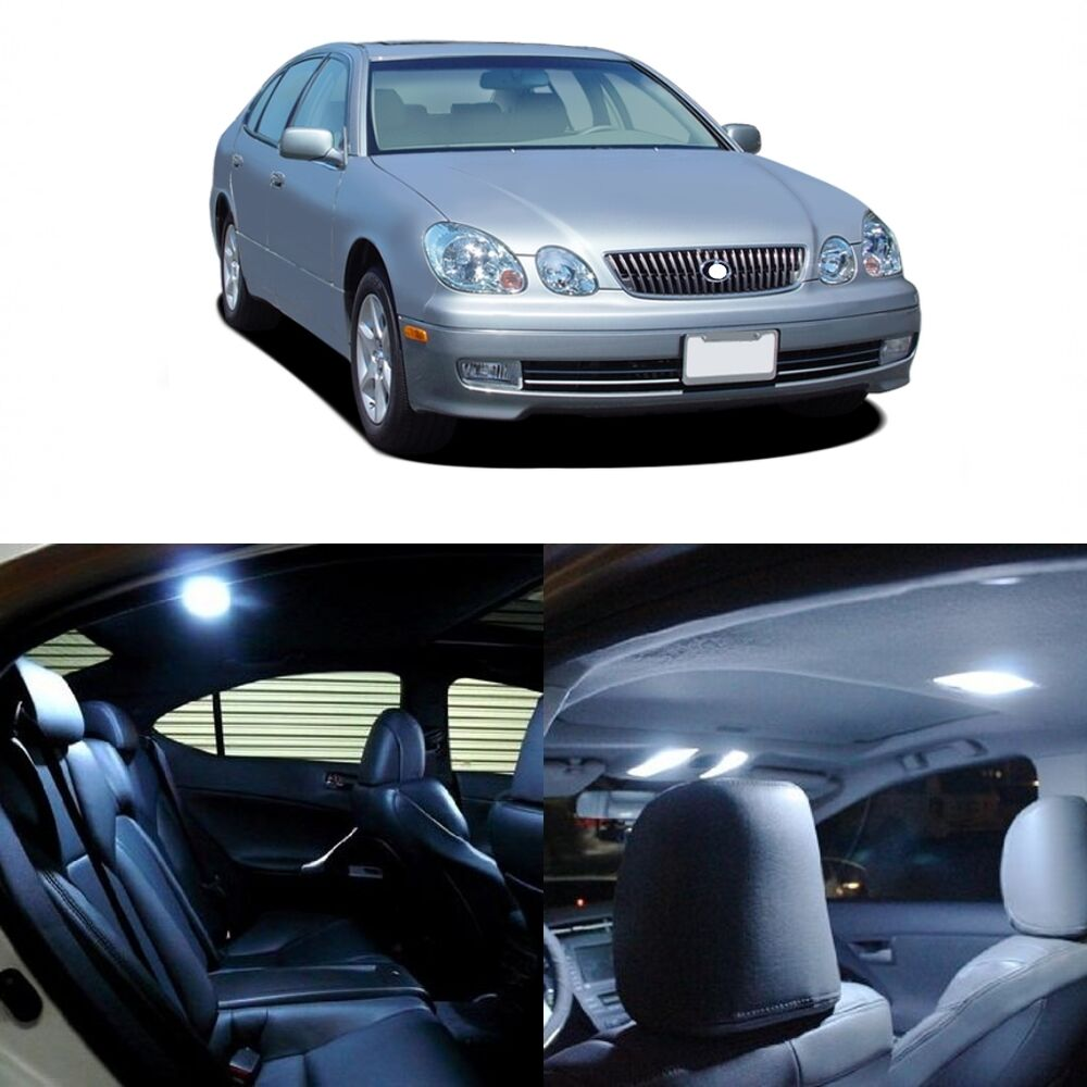 hight resolution of details about 14 x white led interior light kit for 1998 2005 lexus gs300 gs400 gs430 tool