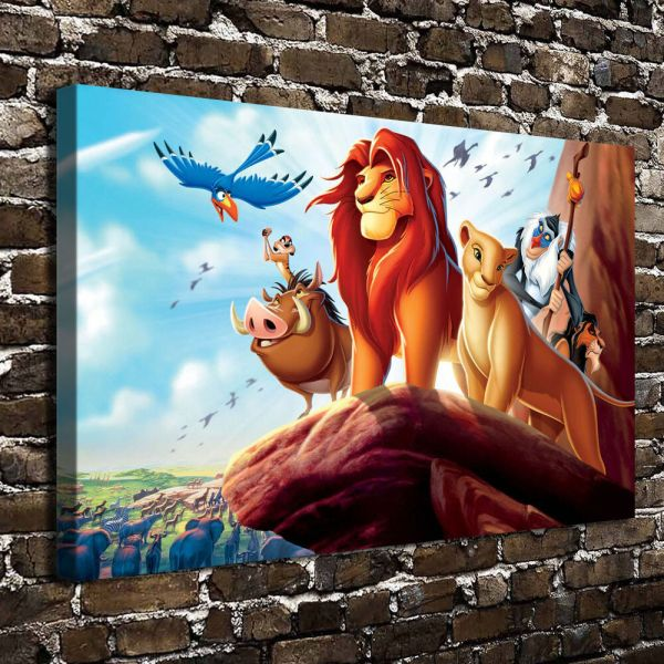 Disney Lion King Paintings Hd Print Canvas Home