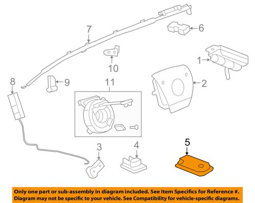 small resolution of details about gm oem airbag air bag rcm sdm acm restraint control module 22771478