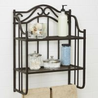 Vintage Bathroom Wall Shelf Antique Storage Metal Shelves