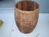 #4 Antique Vintage Wood Wooden Shipping Barrel Planter ...