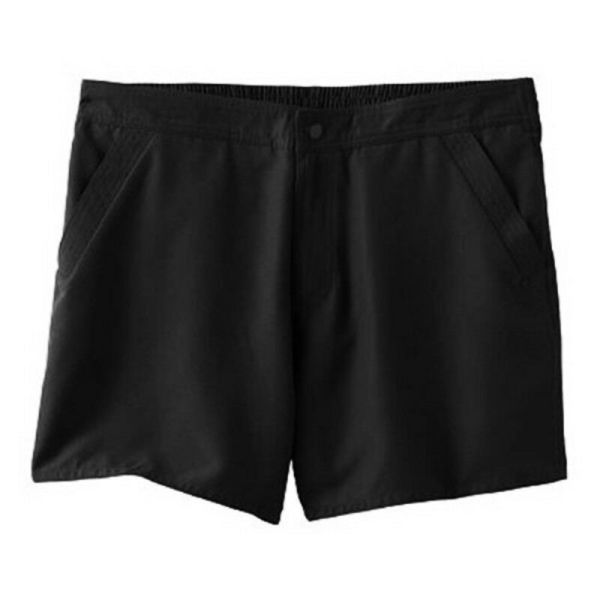 Croft & Barrow Black Tummy Slimmer Board Shorts Swimwear
