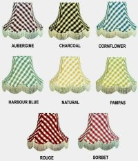 Gingham Check Lamp shades Chandelier Lights Table Lamp ...