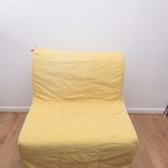 Lycksele Chair Bed Rocking Clearance Ikea Single Fold Out Guest + Yellow Orange Covers | Ebay