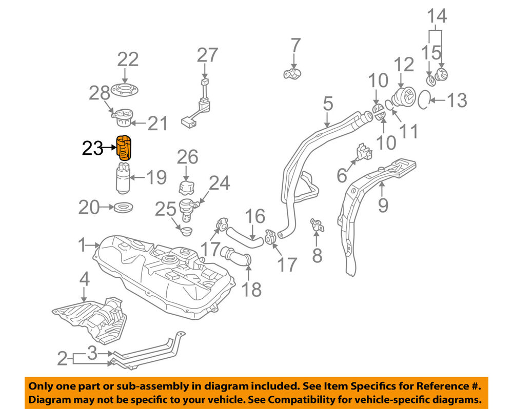 hight resolution of details about pontiac gm oem 03 06 vibe fuel filter 88969125