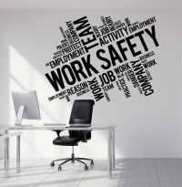 Vinyl Wall Decal Work Safety Business Office Team ...