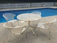 Vintage mid century Salterini Patio chairs And Table ...