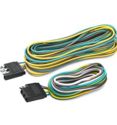 mictuning 65 trailer hitch wiring harness kit 4 way 07 17 jeep wrangler jk 2 4 [ 1000 x 1000 Pixel ]