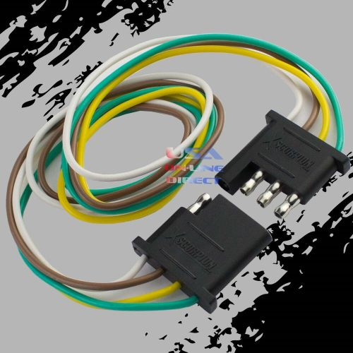 small resolution of details about 4 pin plug trailer light wiring harness extension flat wire connector 2ft 24