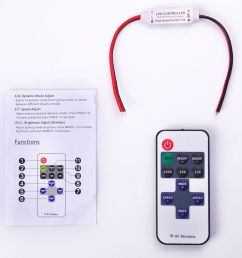 details about 12v wire rf wireless remote switch controller dimmer for mini led strip light [ 1000 x 1000 Pixel ]