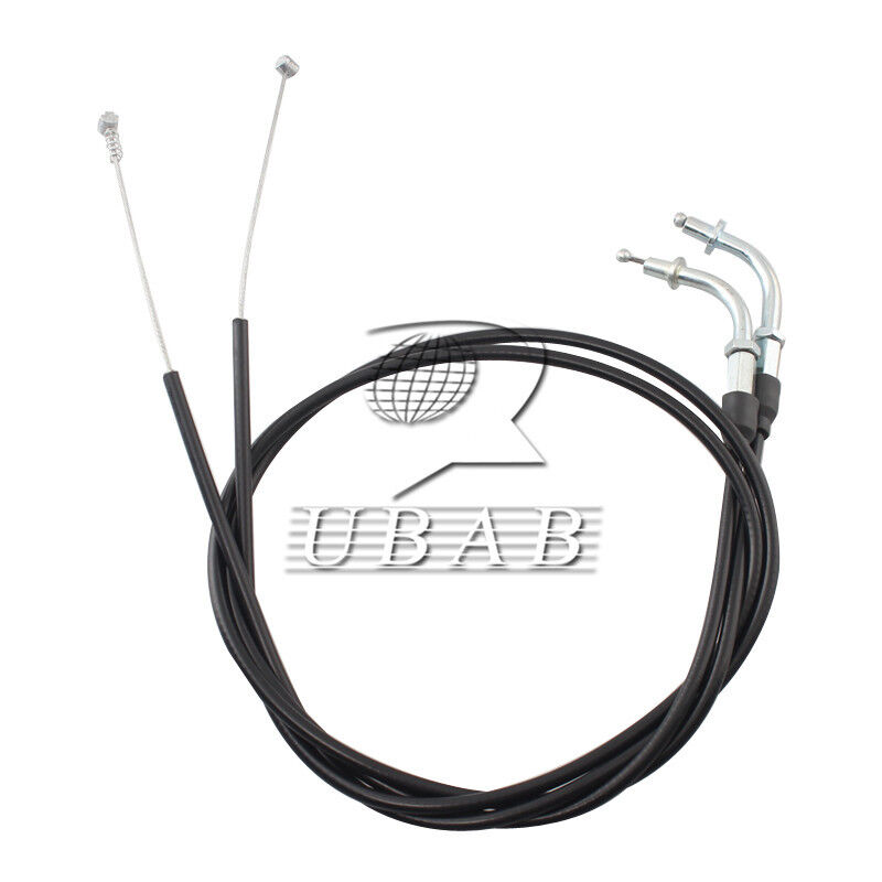 Black 110CM Throttle Cable Wire Set For Harley Davidson