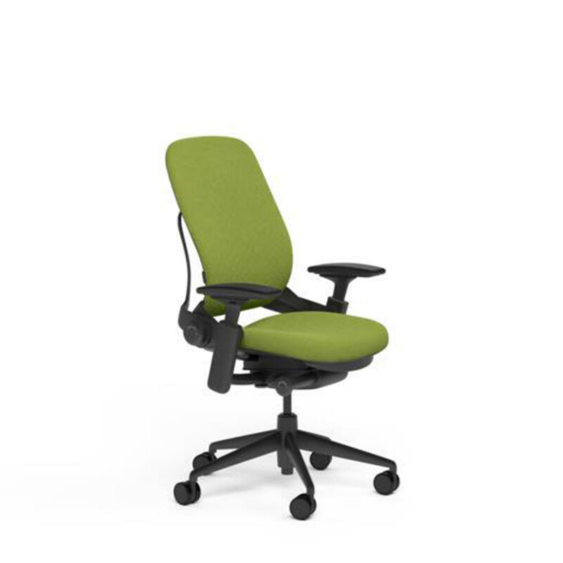 adjustable desk chairs table and chair hire steelcase leap v2 buzz2 meadow green fabric details about black base