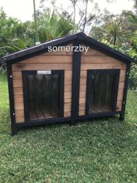 Dog Kennel Somerzby Double XL outdoor wooden pet house The ...