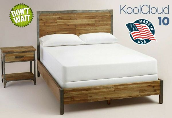 Twin Mattress Memory Foam In Box- Cool-gel Infused - 100 Usa