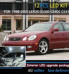 details about white upgrade interior canbus light led kit for 1998 05 lexus gs300 gs400 gs430 [ 1000 x 1000 Pixel ]
