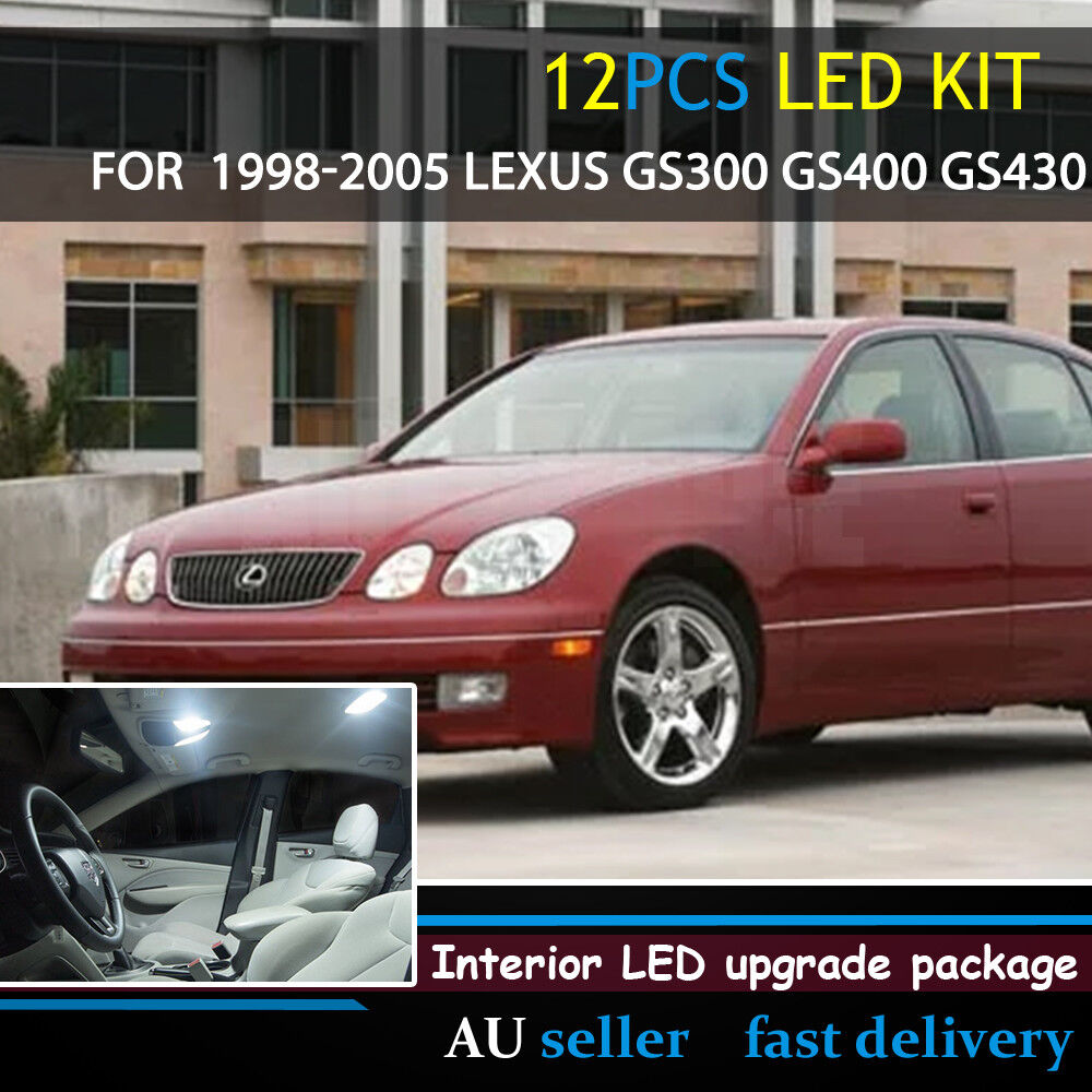 medium resolution of details about white upgrade interior canbus light led kit for 1998 05 lexus gs300 gs400 gs430
