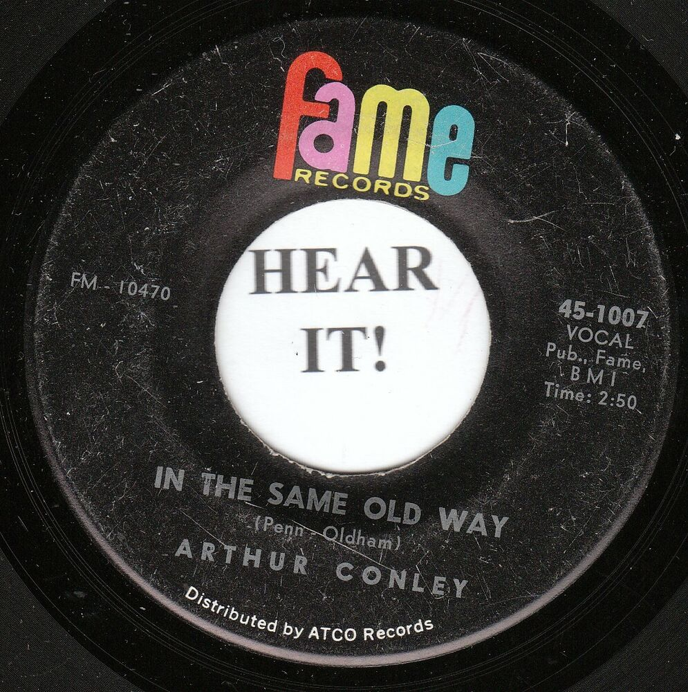 hight resolution of details about arthur conley deep soul 45 fame 1007 in the same old way i can t stop
