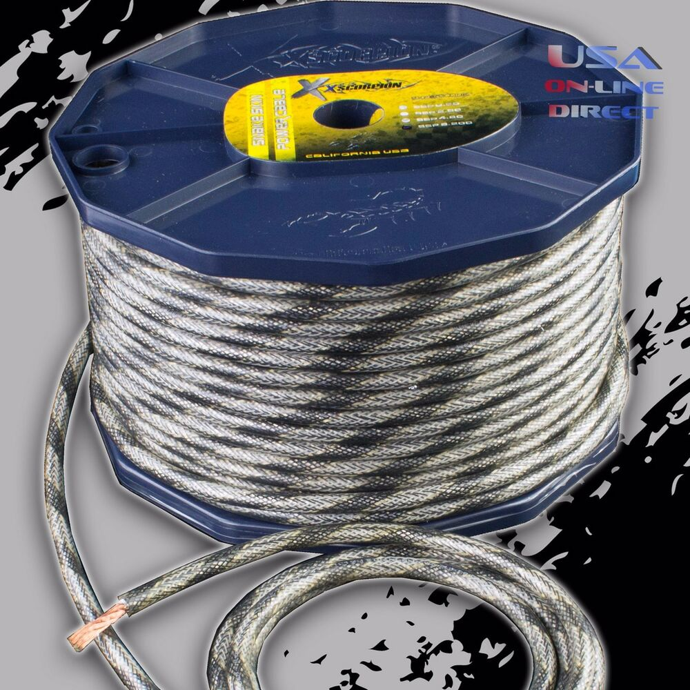 hight resolution of details about 8 gauge ofc copper awg snakeskin power ground wire audio amplifier speaker cable