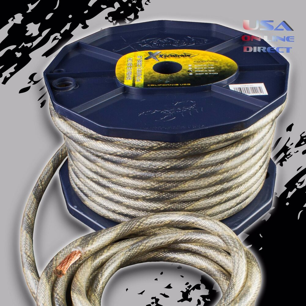 hight resolution of ofc copper awg snakeskin power ground wire audio amplifier cable