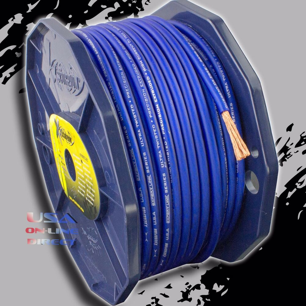 hight resolution of details about 8 gauge ofc copper awg blue power ground wire car audio amplifier speaker cable