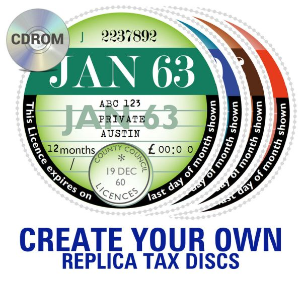 REPRODUCTION REPLICA ROAD TAX DISC 19631987 Customise